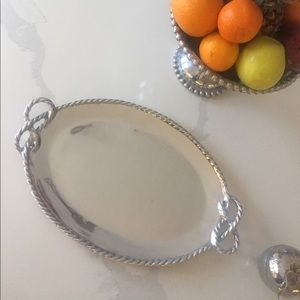 Mariposa rope oval serving tray